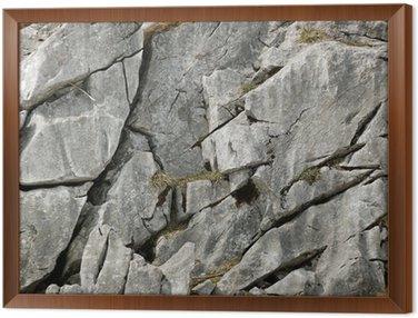 Tavla i Ram Textur av bergvägg