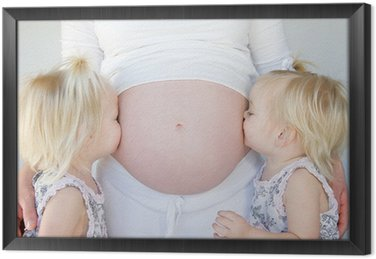 Tavla i Ram Twins Kissing gravid mage