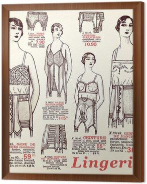 Tavla i Ram Underkläder 1930