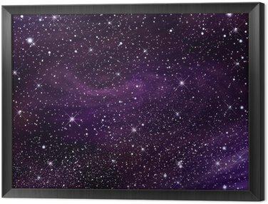 Tavla i Ram Utrymme galax bild, illustration