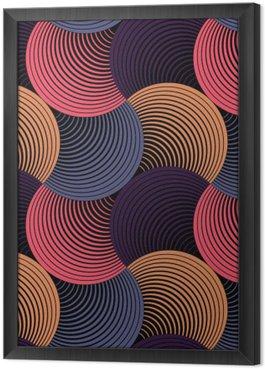 Tavla i Ram Utsmyckade geometriska Petals Grid, abstrakt vektor sömlösa mönster