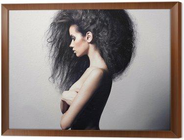 Tavla i Ram Vacker kvinna med magnifika hår