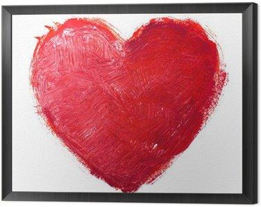Tavla i Ram Vattenfärg hjärta. Concept - kärlek, relationer, konst, målning