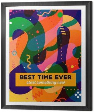 Tavla i Ram Vektor illustration av färgglada abstrakt komposition med text o