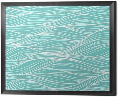 Tavla i Ram Vektor sömlösa abstrakt mönster, vågor