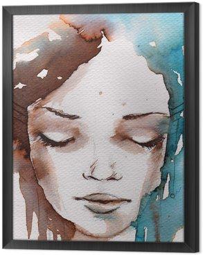 Tavla i Ram Vinter, kallt porträtt