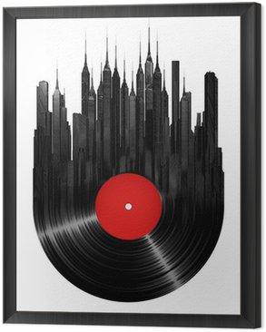Tavla i Ram Vinyl ort