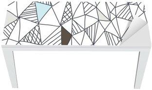 Tischaufkleber und Schreibtischaufkleber Abstract seamless doodle Muster