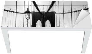 Tischaufkleber und Schreibtischaufkleber Brooklyn Bridge, Manhattan, New York City, USA