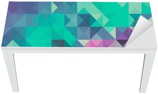 Tischaufkleber und Schreibtischaufkleber Dreieck Hintergrund, grün und violett