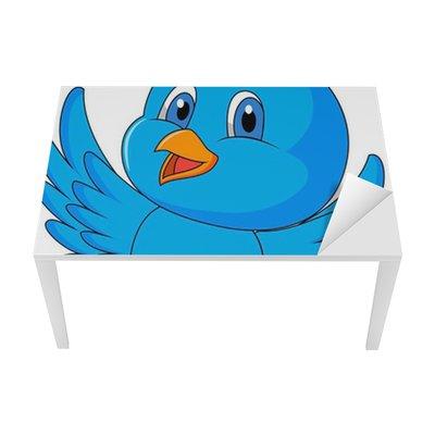 Fototapete Netter blauer Vogel-Cartoon • Pixers® - Wir leben, um zu ...