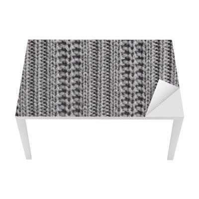 Tischaufkleber und Schreibtischaufkleber Strickwolle Nahaufnahme Textur