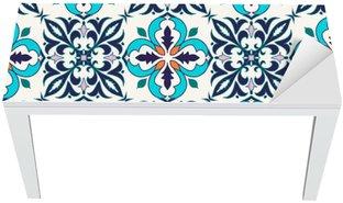 Tischaufkleber und Schreibtischaufkleber Vector nahtlose Textur. Schöne farbige Muster für Design und Mode mit dekorativen Elementen