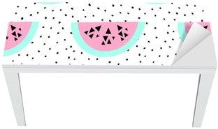 Tischaufkleber und Schreibtischaufkleber Wassermelone nahtlose Muster
