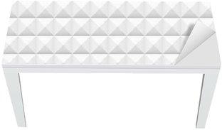 Tischaufkleber und Schreibtischaufkleber Weiße Fliesen, Quadrate, Vektor-Illustration, nahtlose Muster