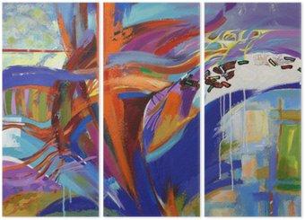 Tríptico A arte de abstração