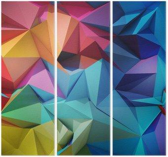 Tríptico Abstract geometric background