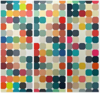Tríptico Abstract geometric retro pattern seamless for your design