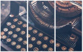Tríptico Antique Typewriter