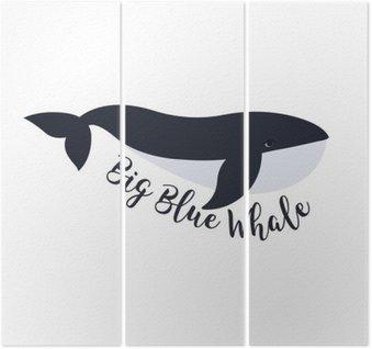 Tríptico Ilustração do vetor da baleia. projeto do símbolo