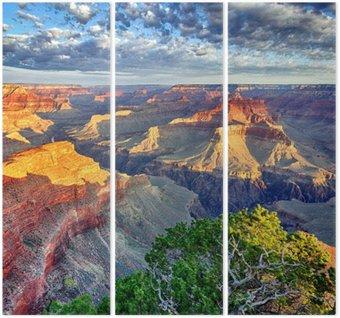 Tríptico morning light at Grand Canyon