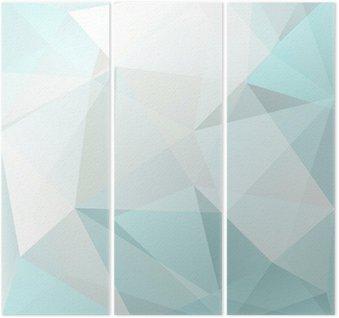 Tríptico Triángulo fondo abstracto, vector