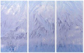 декоративный морозный узор на стекле Triptych