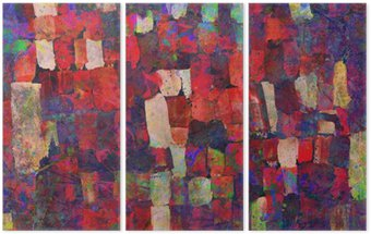 Abstract art painting Triptych
