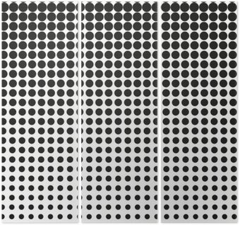Abstract halftone. Black dots on white background. Halftone background. Vector halftone dots. halftone on white background. Background for design Triptych