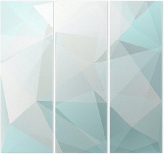 abstract triangle background, vector Triptych