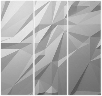 abstract white background low poly Triptych