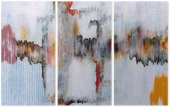 Triptych an abstract painting