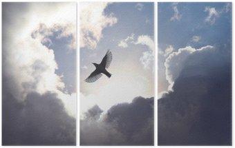 Triptych Angel Bird in Heaven