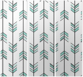 arrow seamless vector pattern background hipster illustration Triptych