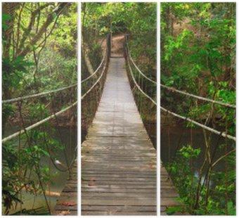 Bridge to the jungle,Khao Yai national park,Thailand Triptych