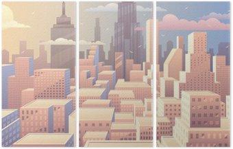 Triptych Cityscape Sunrise