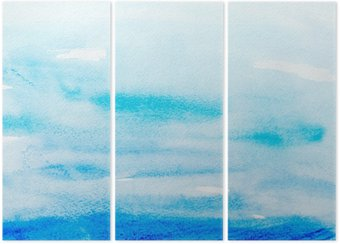 color strokes watercolor painting art Triptych