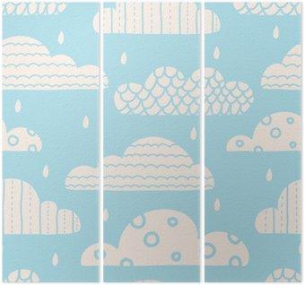 Cute clouds. Vector seamless pattern.