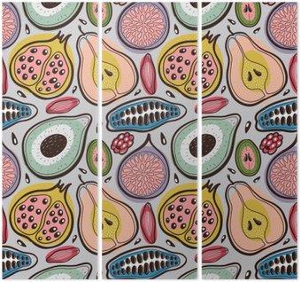 Fruits seamless pattern Triptych