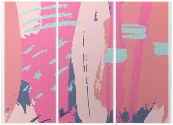 Hand Drawn Abstract Design Triptych
