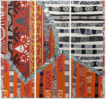 Triptych Indian tribal seamless pattern.Vector illustration