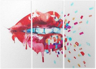 Triptych lips