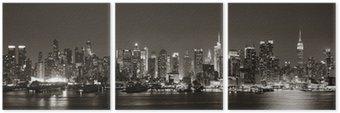 Midtown Manhattan skyline Triptych