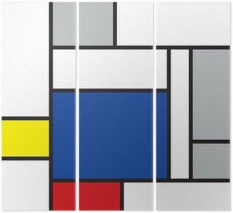 mondrian inspired art Triptych