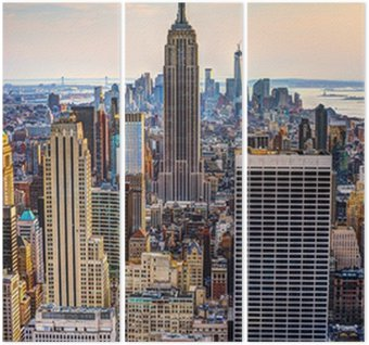 New York City at Dusk Triptych