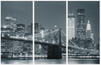 New York City Brooklyn Bridge Triptych
