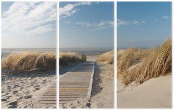 Nordsee Strand auf Langeoog Triptych