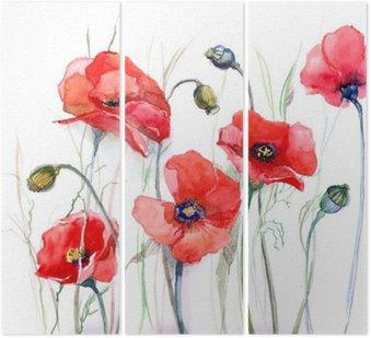poppy Triptych