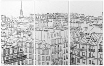 roofs in Paris Triptych