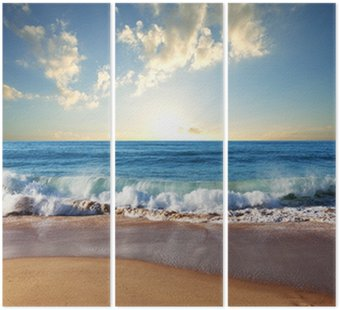 Triptych Sea sunset